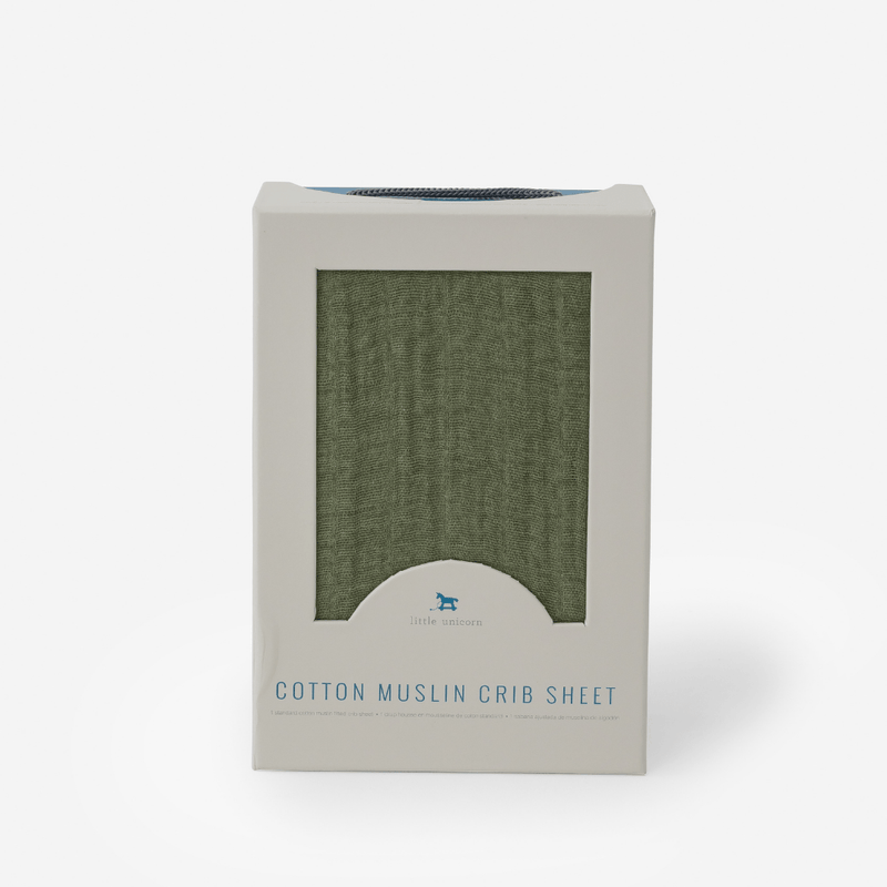Fern Cotton Muslin Crib Sheet - Project Nursery