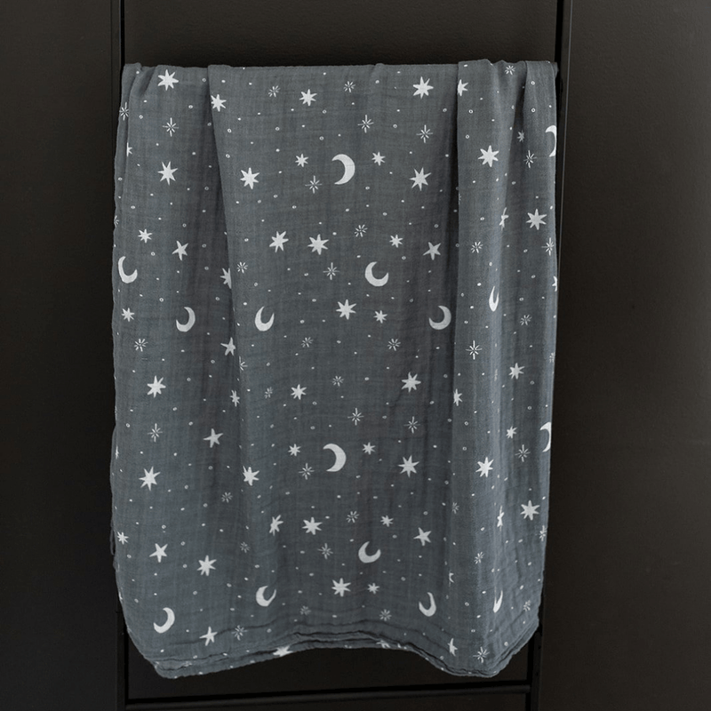 Night Sky Muslin Swaddle Blanket - Project Nursery