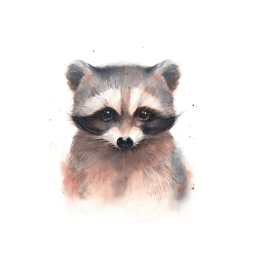 Baby Raccoon Print - Project Nursery