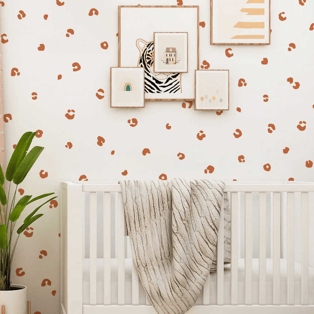 Cheetah Spots Wall Decals Wall Decals Kenna Sato Designs Sample Burnt Orange