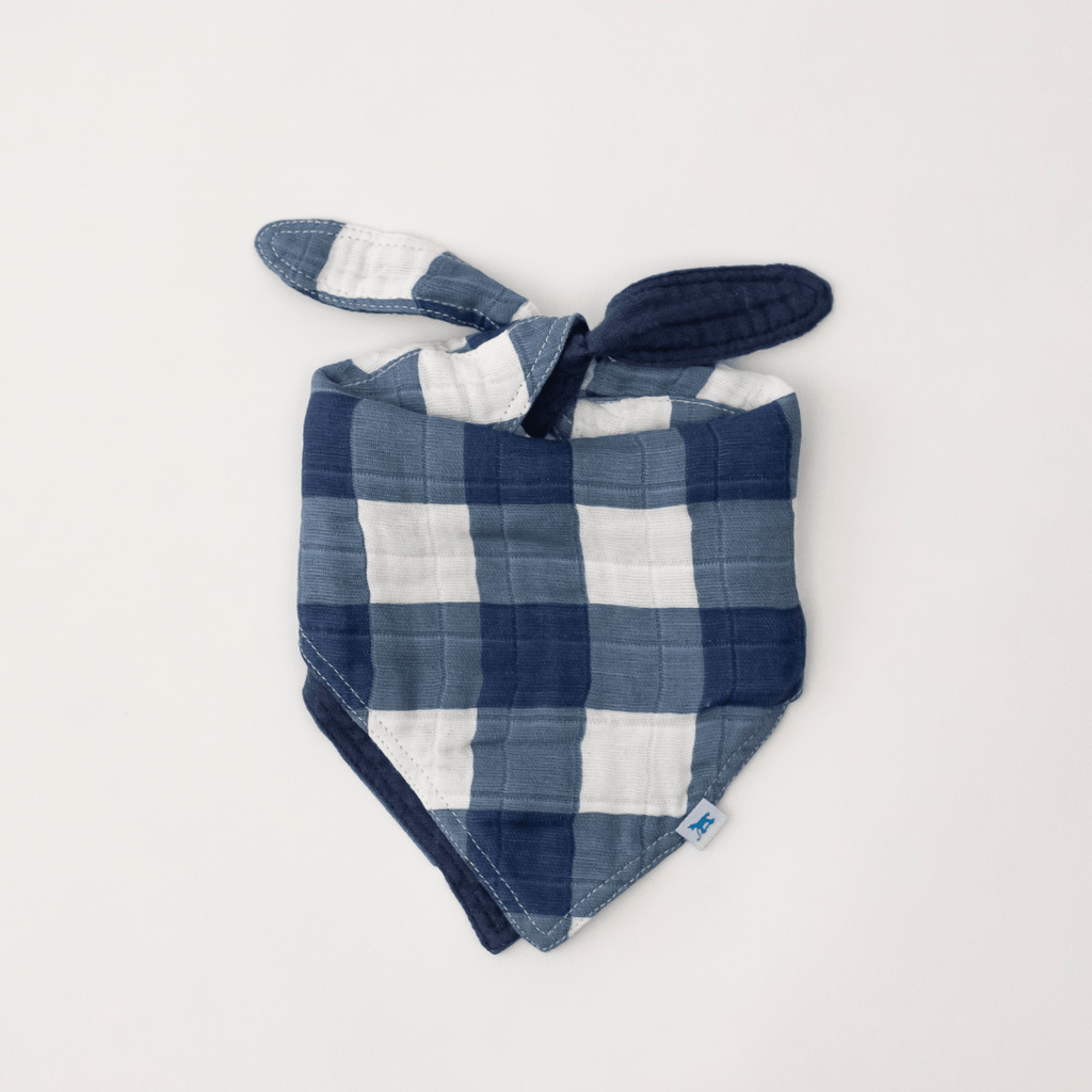 Jack Plaid Reversible Bandana Bib - Project Nursery