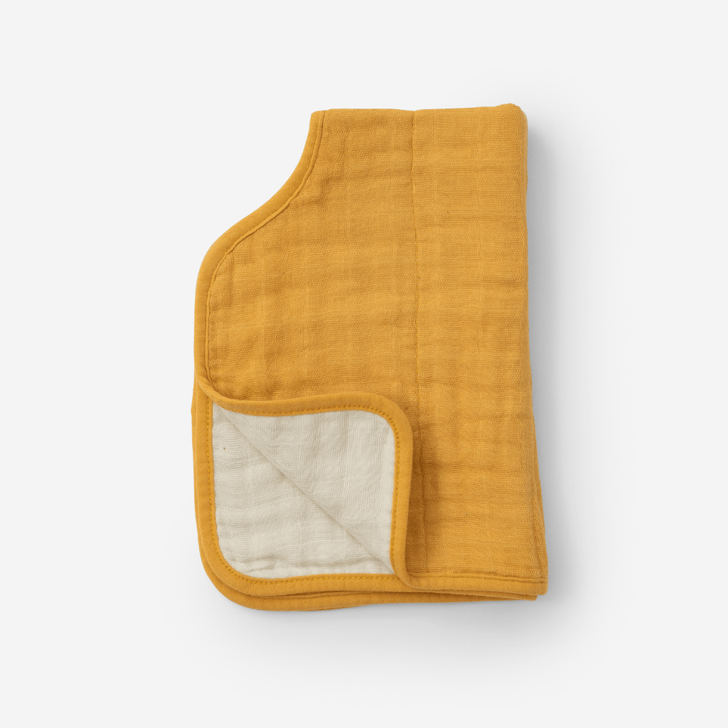 Mustard Cotton Muslin Burp Cloth - Project Nursery