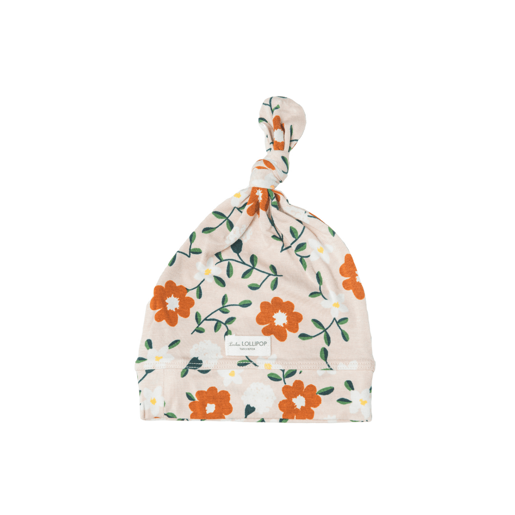Flower Vine Top Knot Beanie - Project Nursery