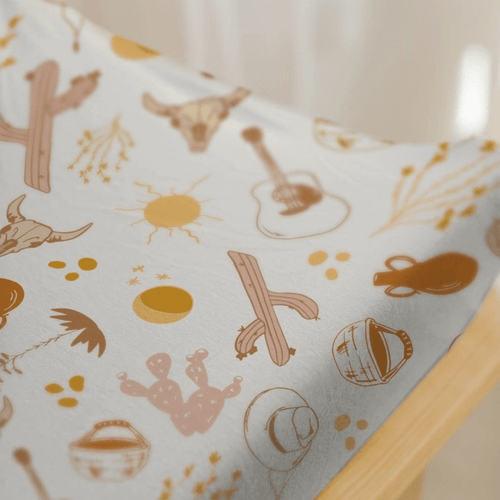 Canyon Printed Changing Pad Cover - Project Nursery