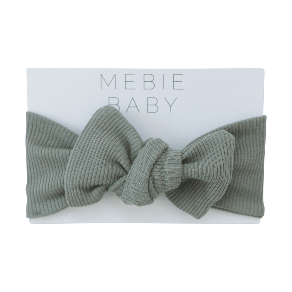 Organic Cotton Ribbed Green Head Wrap - Project Nursery