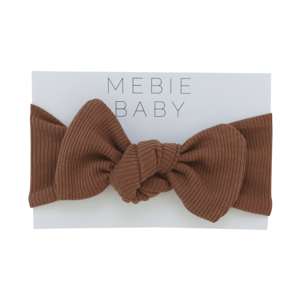 Organic Cotton Ribbed Rust Head Wrap - Project Nursery
