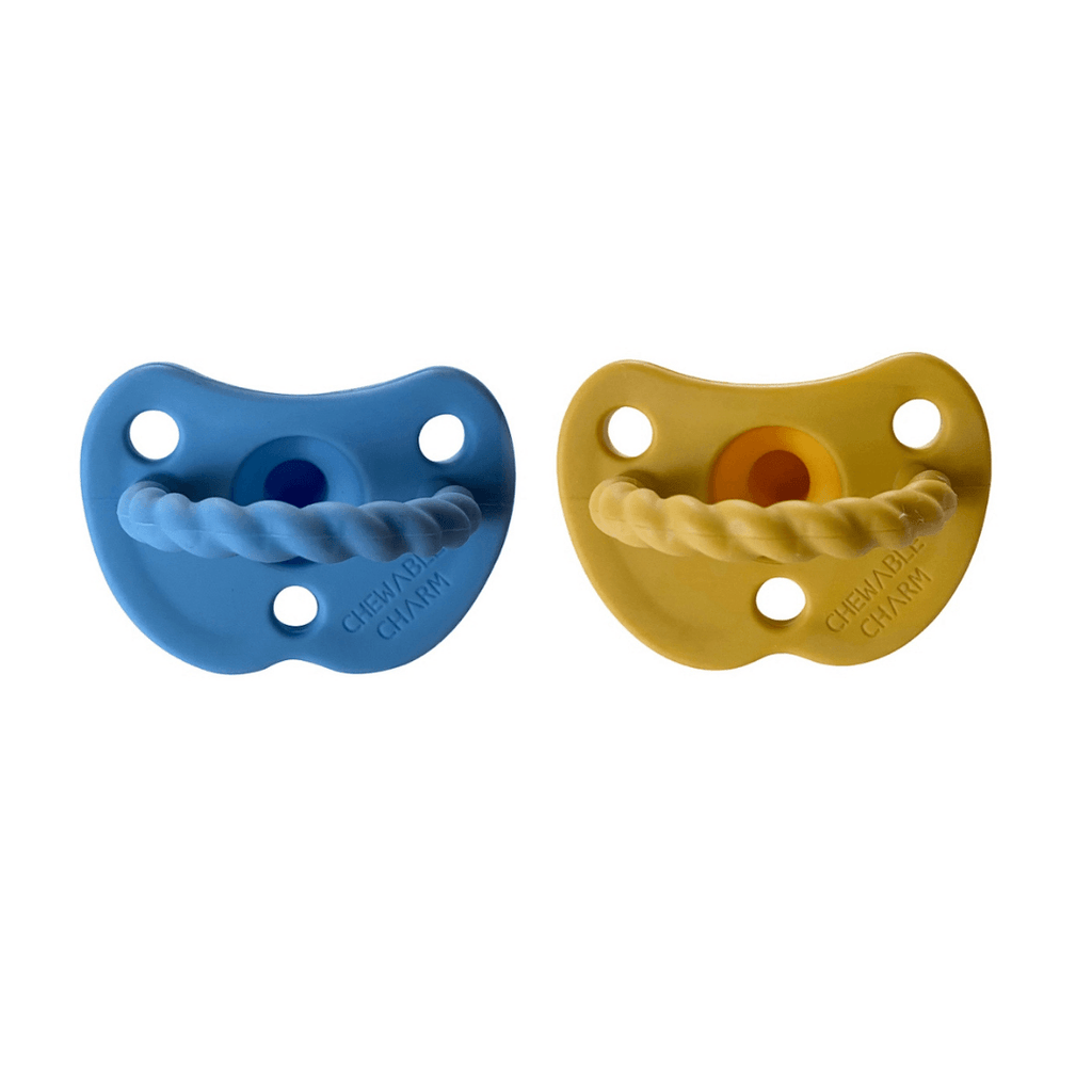 2 Pack Pacifier Twist - River + Golden Sun - Project Nursery