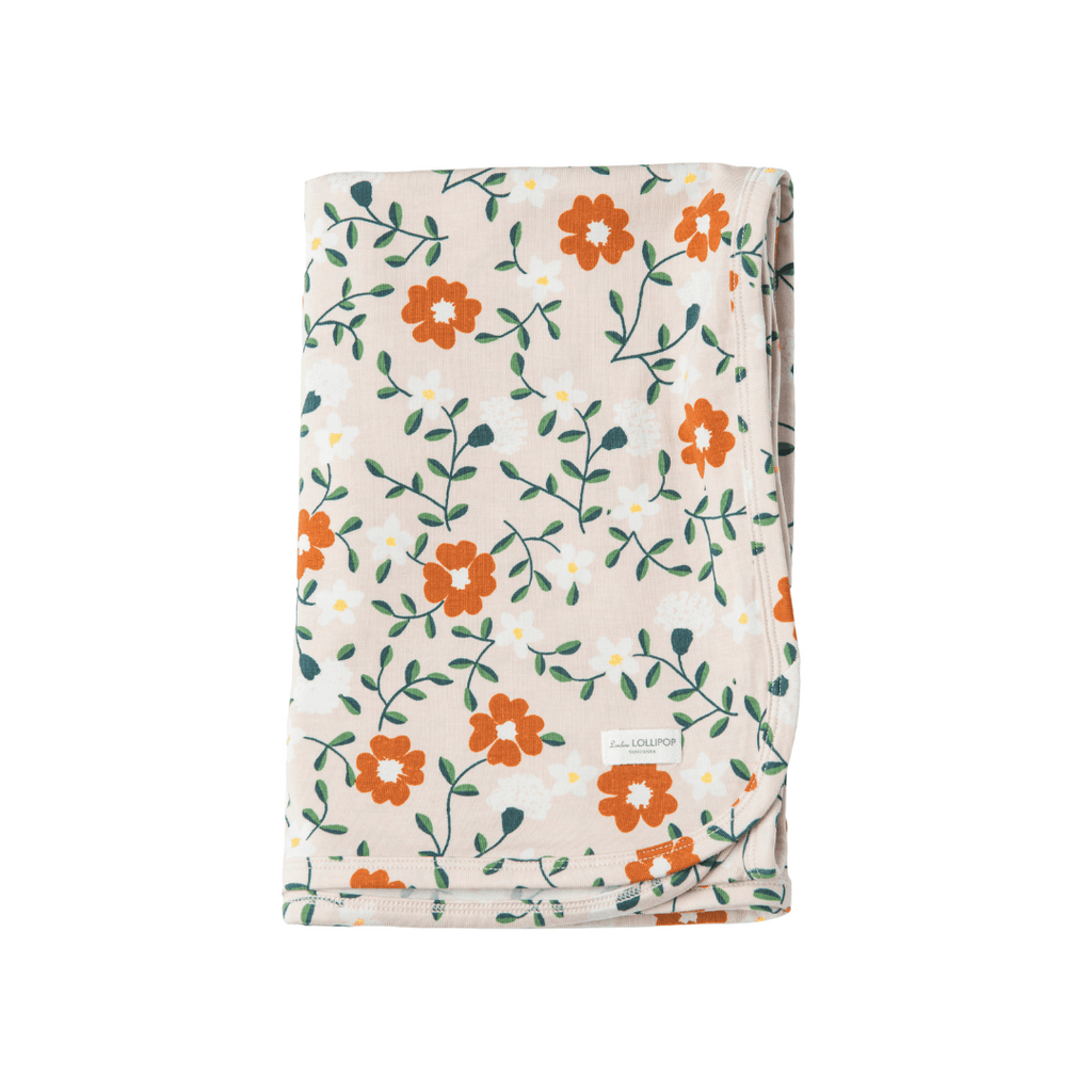 Flower Vine Organic Stretch Knit Swaddle Blanket - Project Nursery