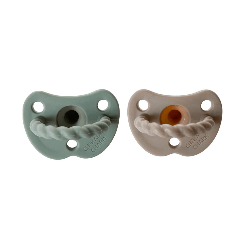 2 Pack Pacifier Twist - Sage + Almond - Project Nursery