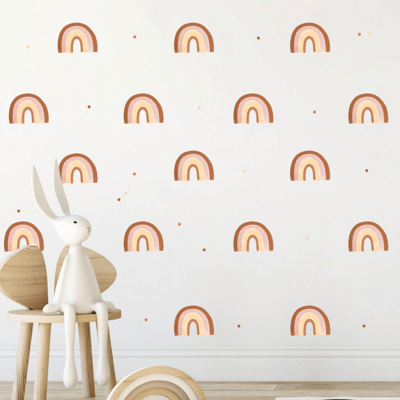 Retro Spotted Rainbow Wall Stickers - Project Nursery