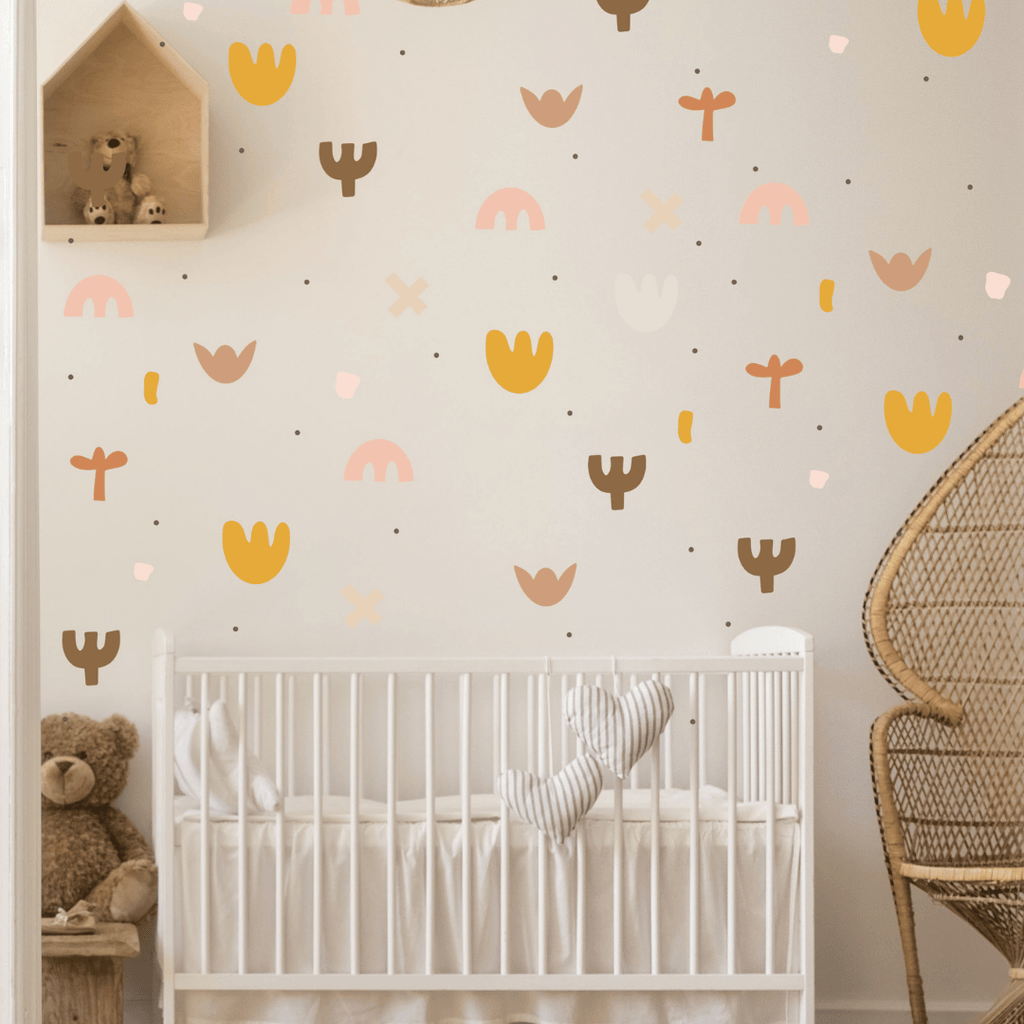 Boho Abstract Wall Stickers - Project Nursery