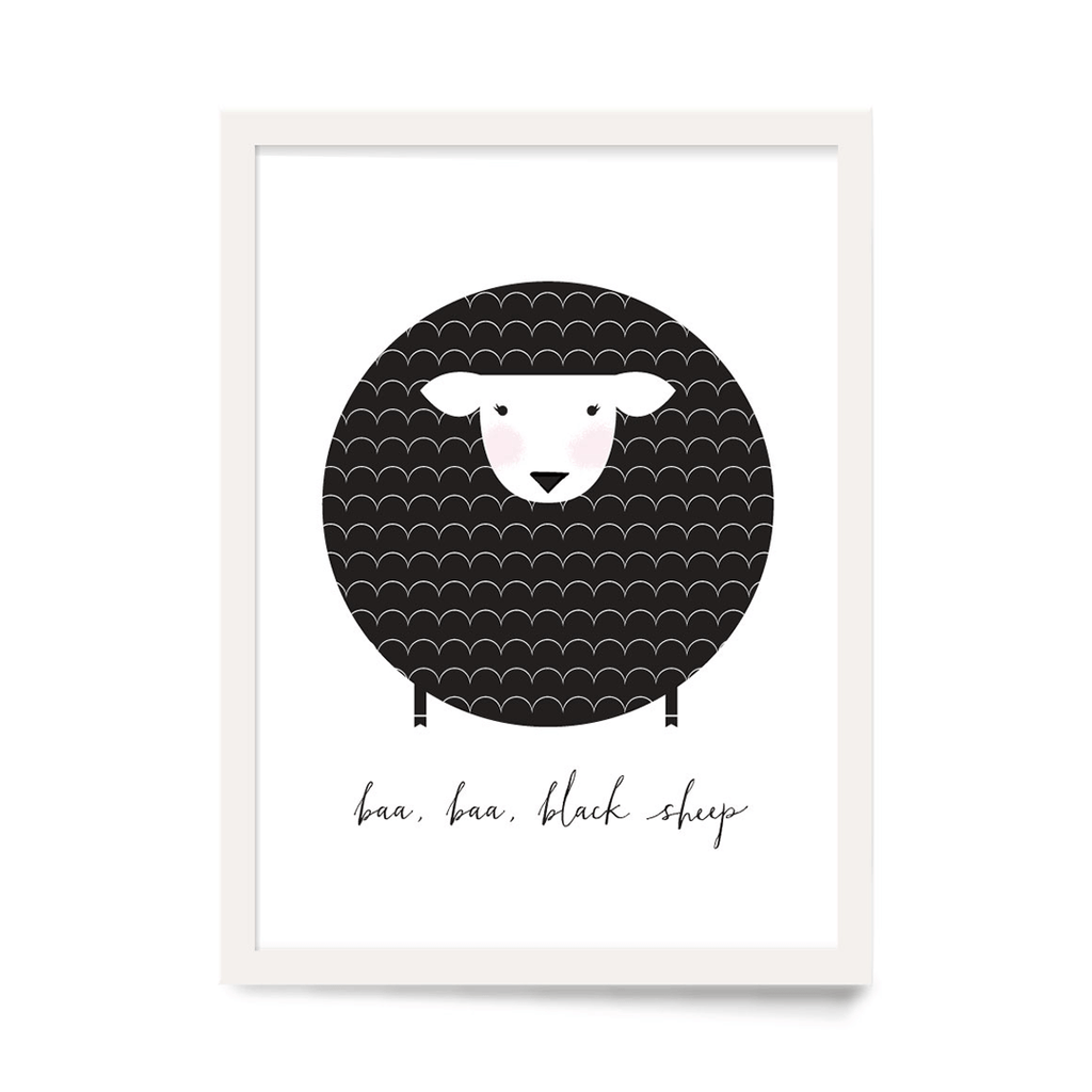 Baa Baa Black Sheep Art Print  - The Project Nursery Shop - 1