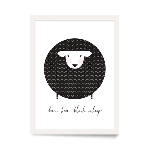 Baa Baa Black Sheep Art Print - Project Nursery