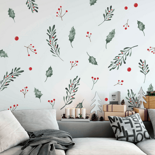 Christmas Holly Wall Decals - Project Nursery