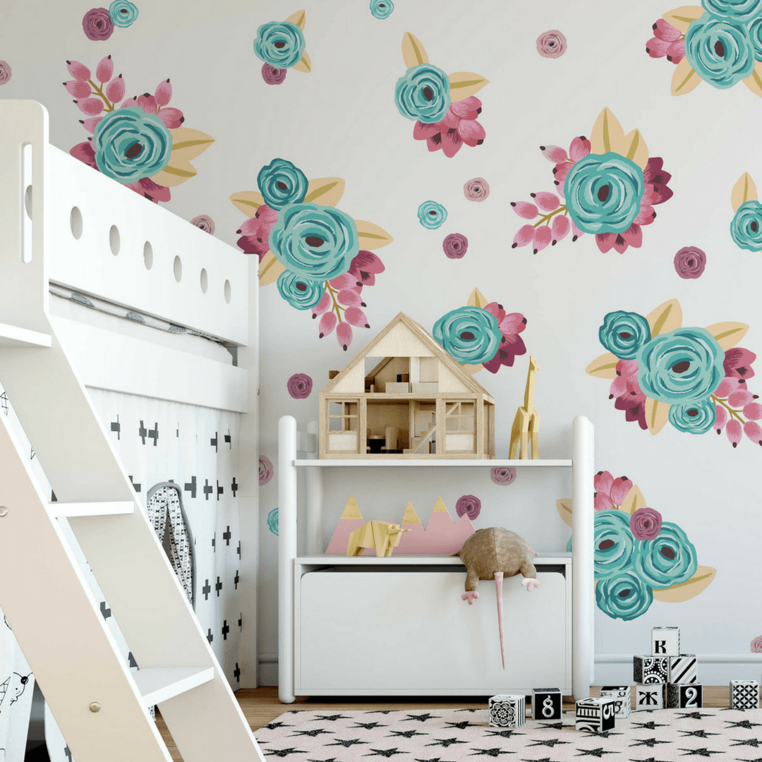 Graphic Flower Cluster Wall Decals   Project Nursery