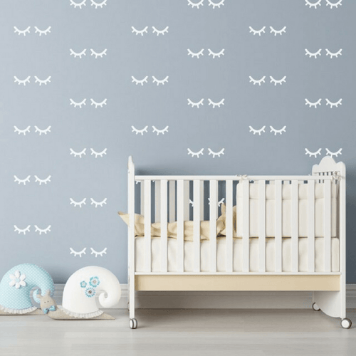 Sleepy Eyes Wall Decals - Multiple Colors - Project Nursery
