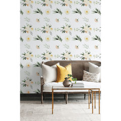 Pastel Rose Garden Wallpaper - Project Nursery