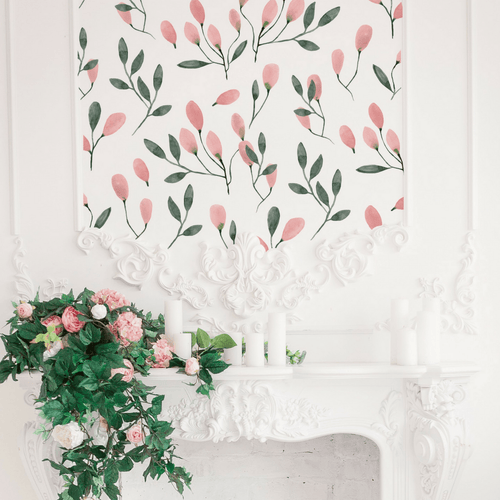 Soft Blush Floral Wall Decals - Project Nursery