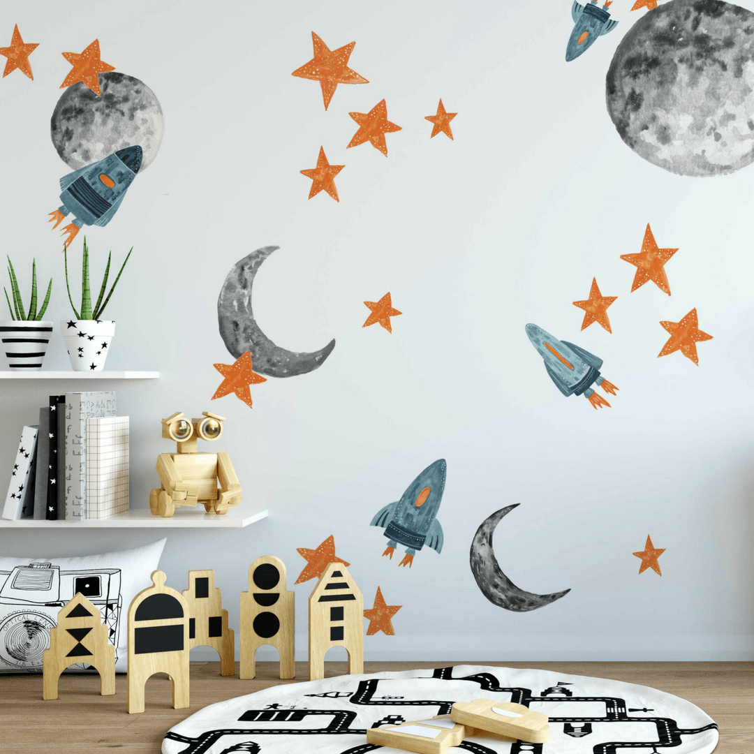 Kids wall decals project nursery spaceships wall decals gumiabroncs Images
