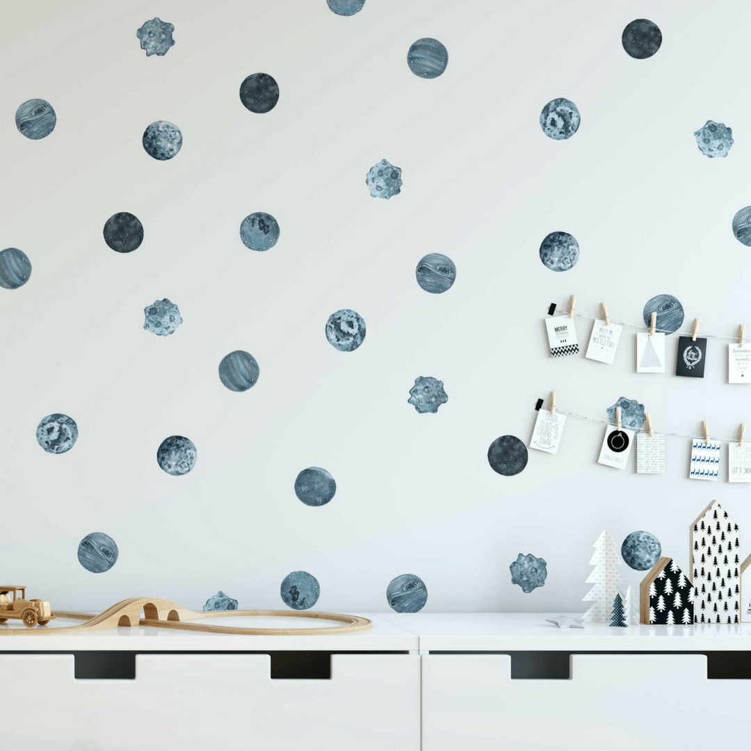 Kids wall decals project nursery blue planet pattern wall decals gumiabroncs Images