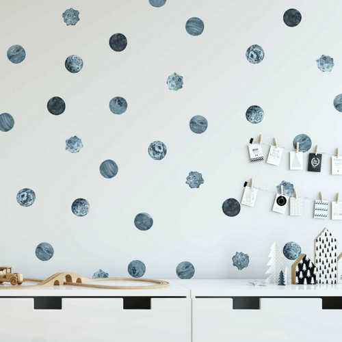 Blue Planet Pattern Wall Decals - Project Nursery