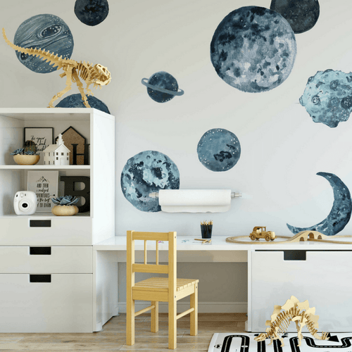 Kids wall decals project nursery blue planets wall decals gumiabroncs Images