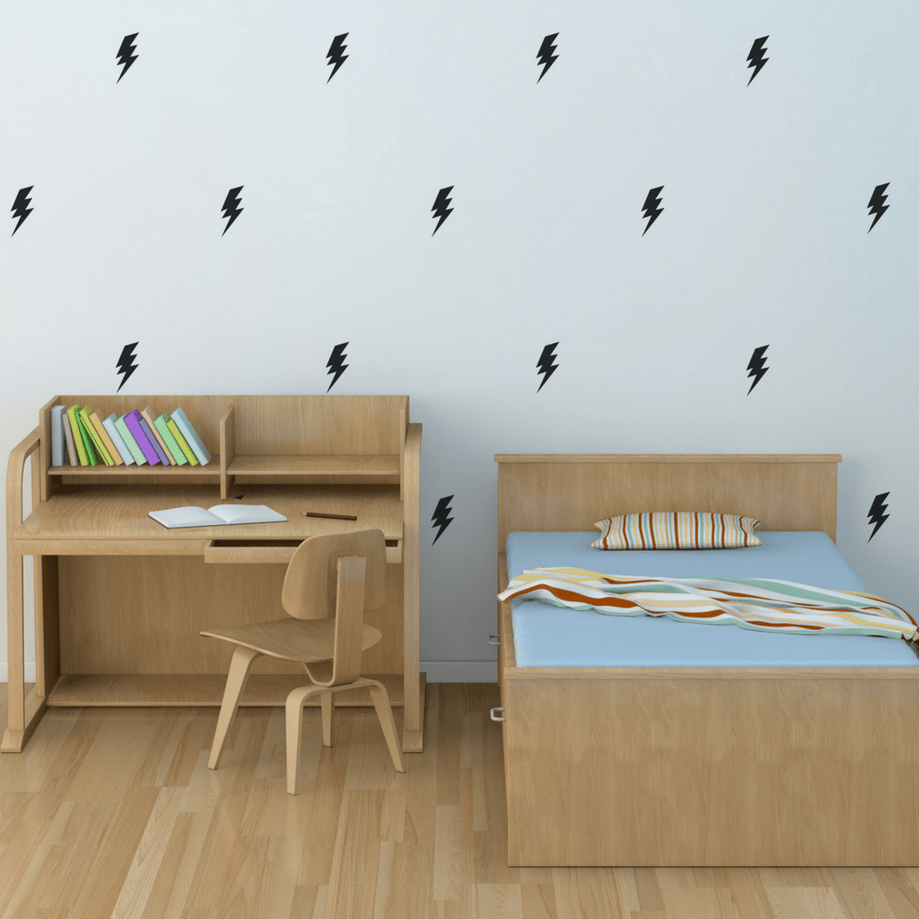 Lightning Bolt Wall Decals - Multiple Colors - Project Nursery