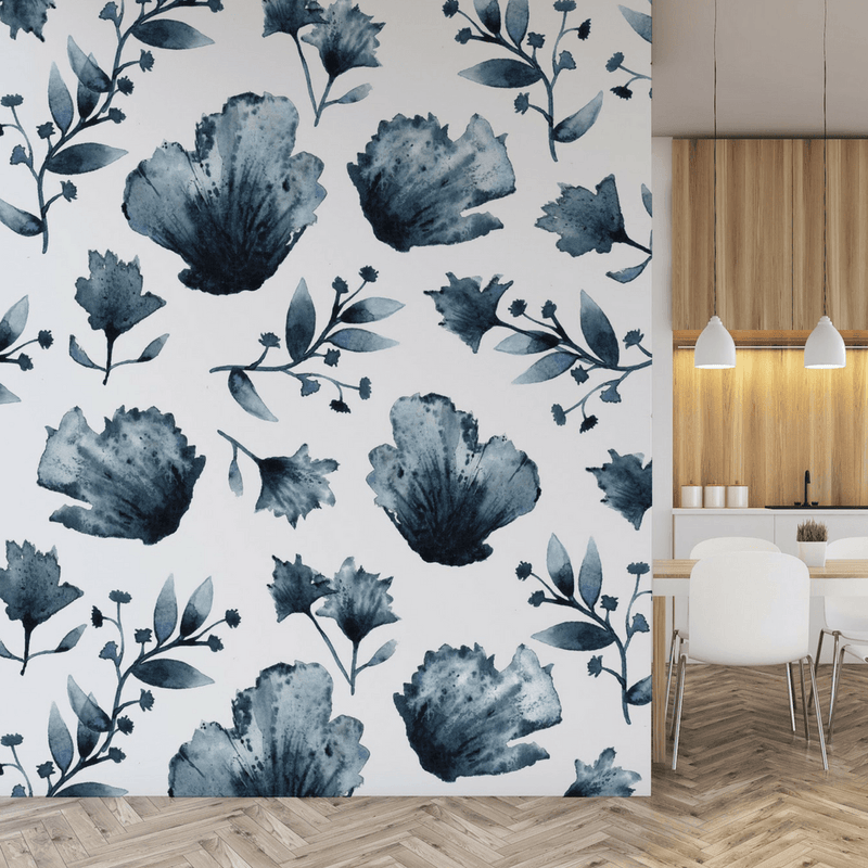 Water + Ink Floral Wall Decals - Project Nursery