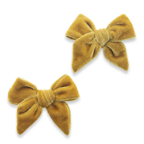 Brass Velvet Bow Clips - Project Nursery