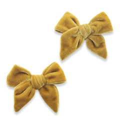 Brass Velvet Bow Clip Set - Project Nursery