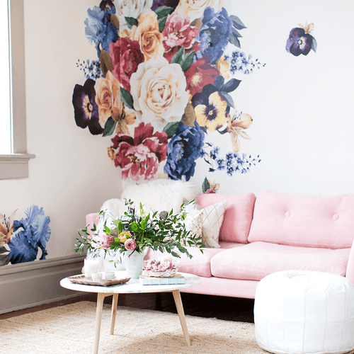 Vintage Floral Wall Decals - Project Nursery