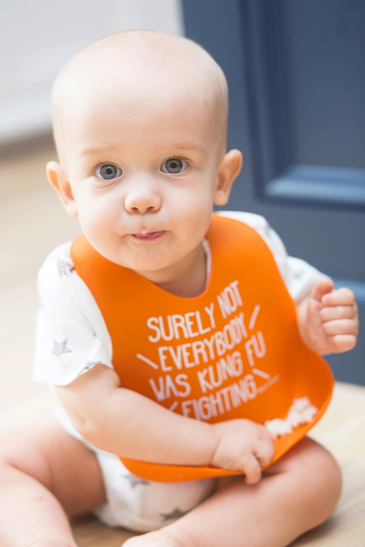 Kung Fu Fighting Wonder Bib - Project Nursery