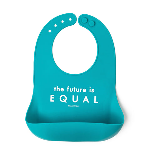 Powder Blue Silicone Baby Bib