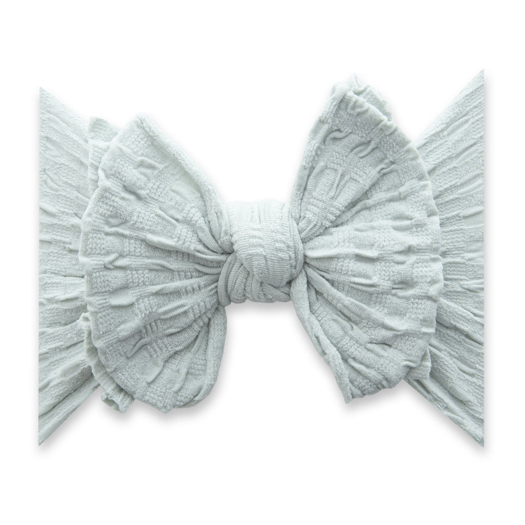 Dove Gray Fab-Bow-Lous Knot Headband - Project Nursery