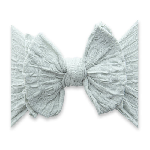 Dove Grey Fab-Bow-Lous Knot Headband - Project Nursery