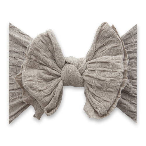 Taupe Fab-Bow-Lous Waffle Knit Headband - Project Nursery