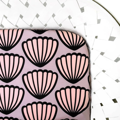 Seashell Organic Cotton Crib Sheet - Project Nursery