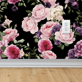 Vintage Floral Wallpaper - Dark - Project Nursery