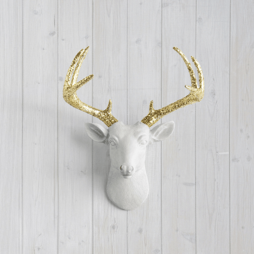 Mini Resin Deer Head Wall Mount with Custom Antlers - Project Nursery