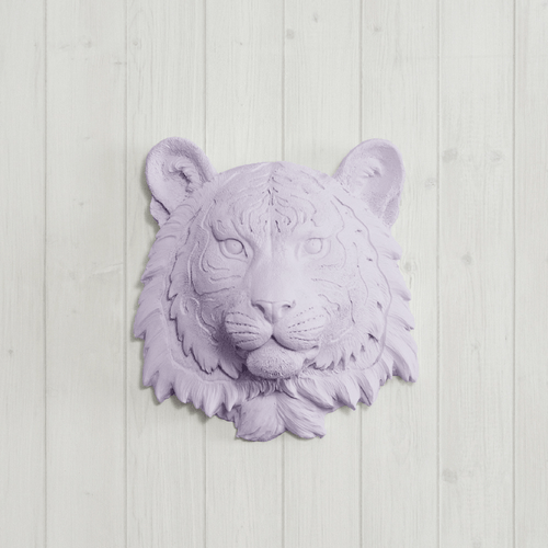 Mini Resin Tiger Head Wall Mount - Project Nursery