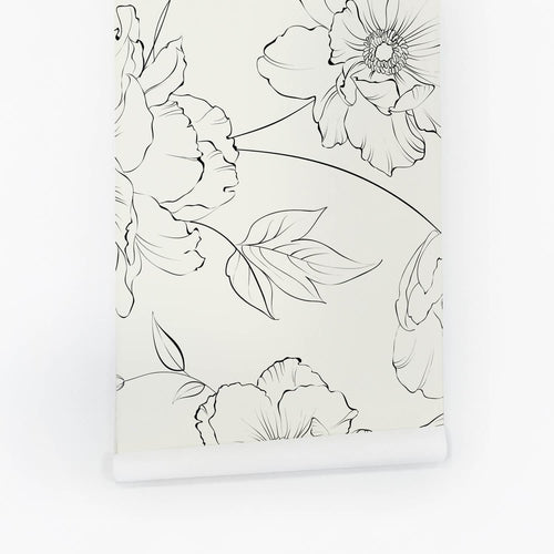 Delicate Floral Design Wallpaper - Project Nursery