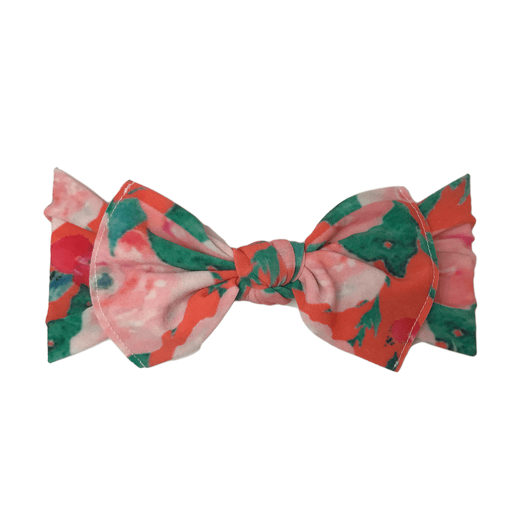 Watercolor Floral Printed Knot Headband - Project Nursery