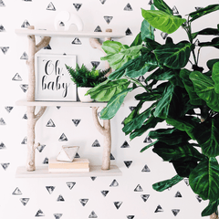 Watercolor Triangle Mural Wallpaper - Project Nursery