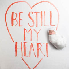 Be Still My Heart Organic Swaddle Scarf - Project Nursery