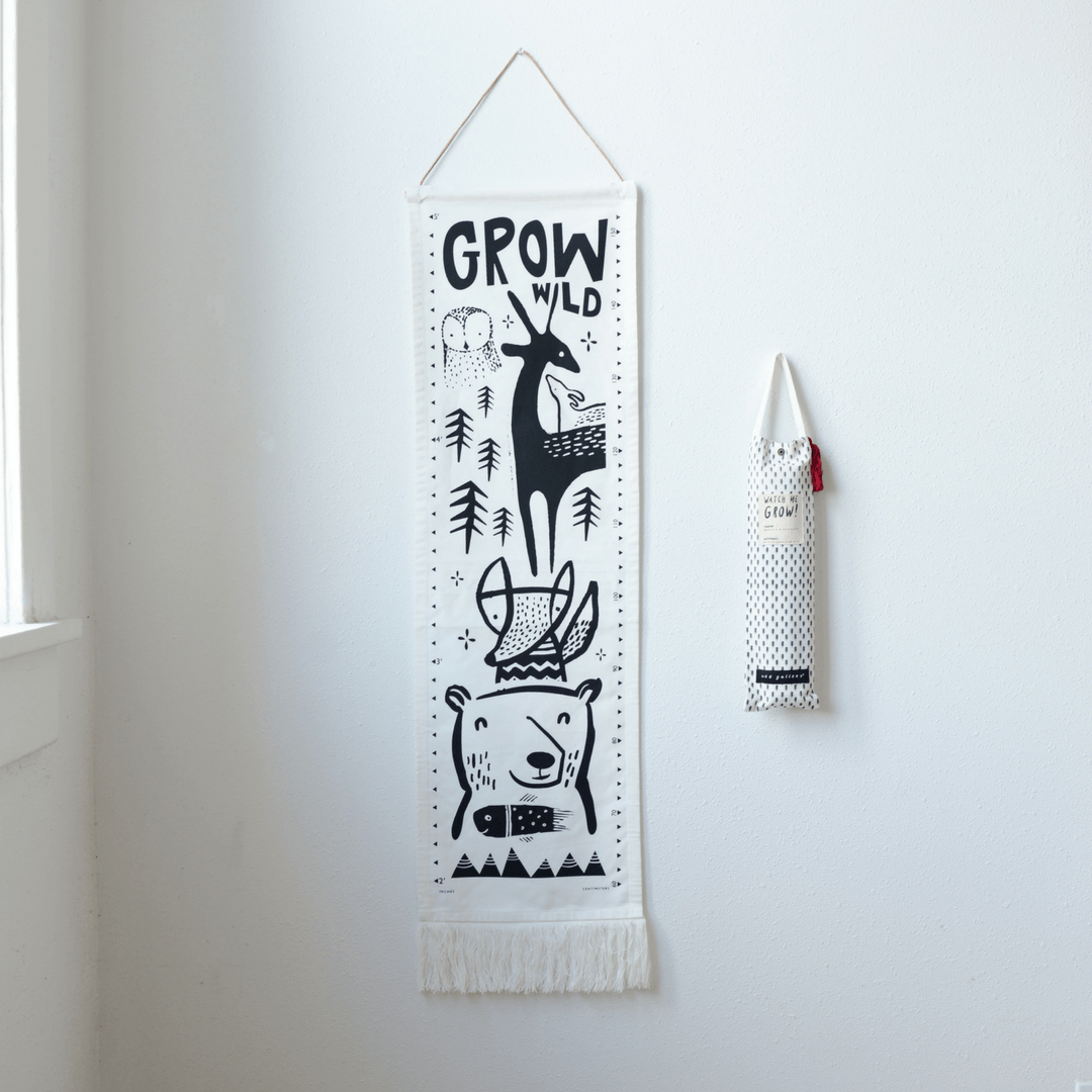 Woodland Canvas Growth Chart - Project Nursery