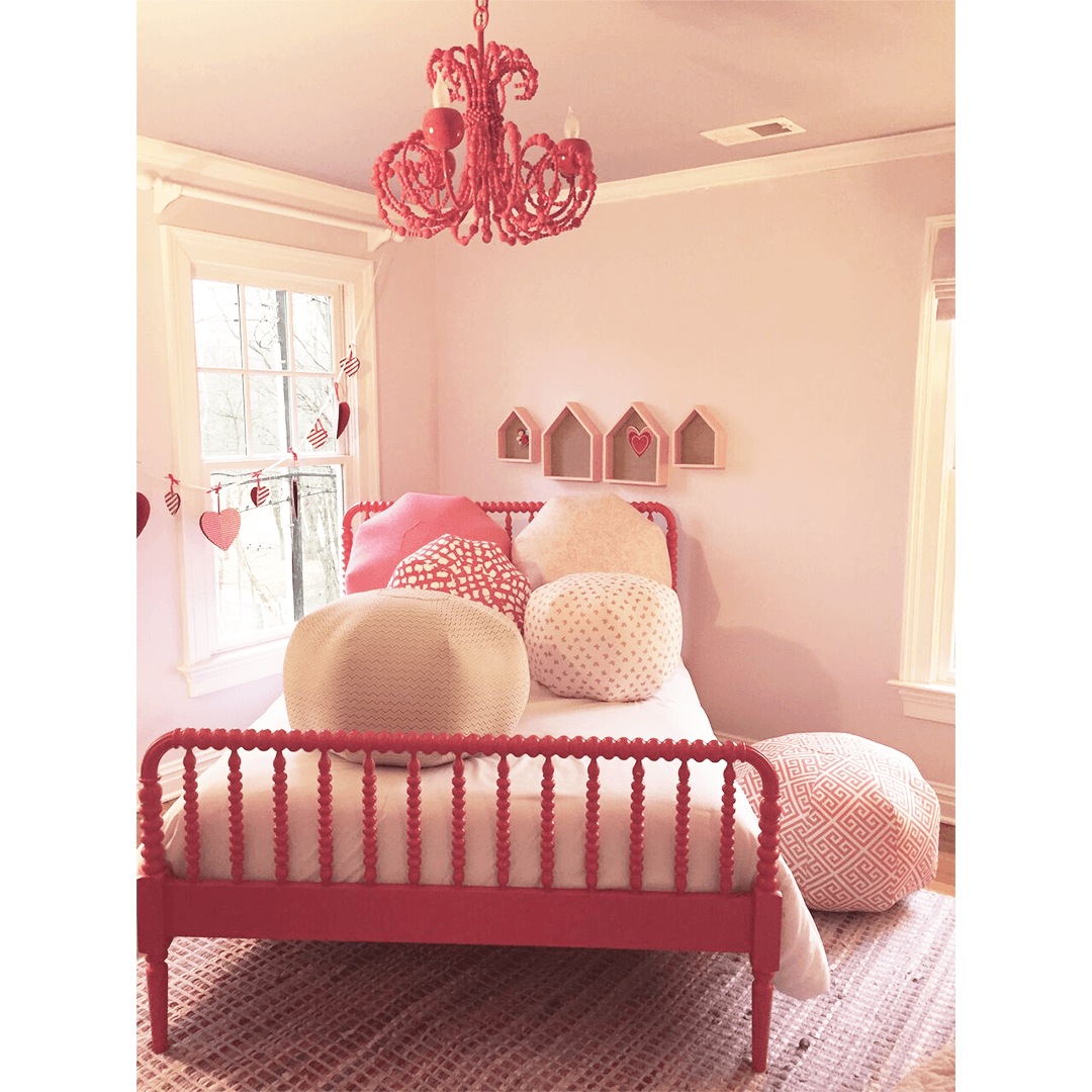 Pink Key Pouf - Project Nursery