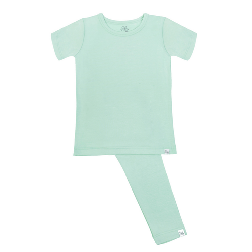 Short Sleeve Pajama Set in - Aloe It's Me - Project Nursery