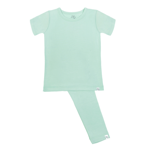 Short Sleeve Pajama Set - Ash in the Sand