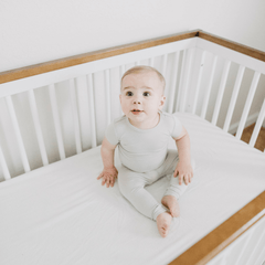 Short Sleeve Pajama Set - Ash in the Sand - Project Nursery