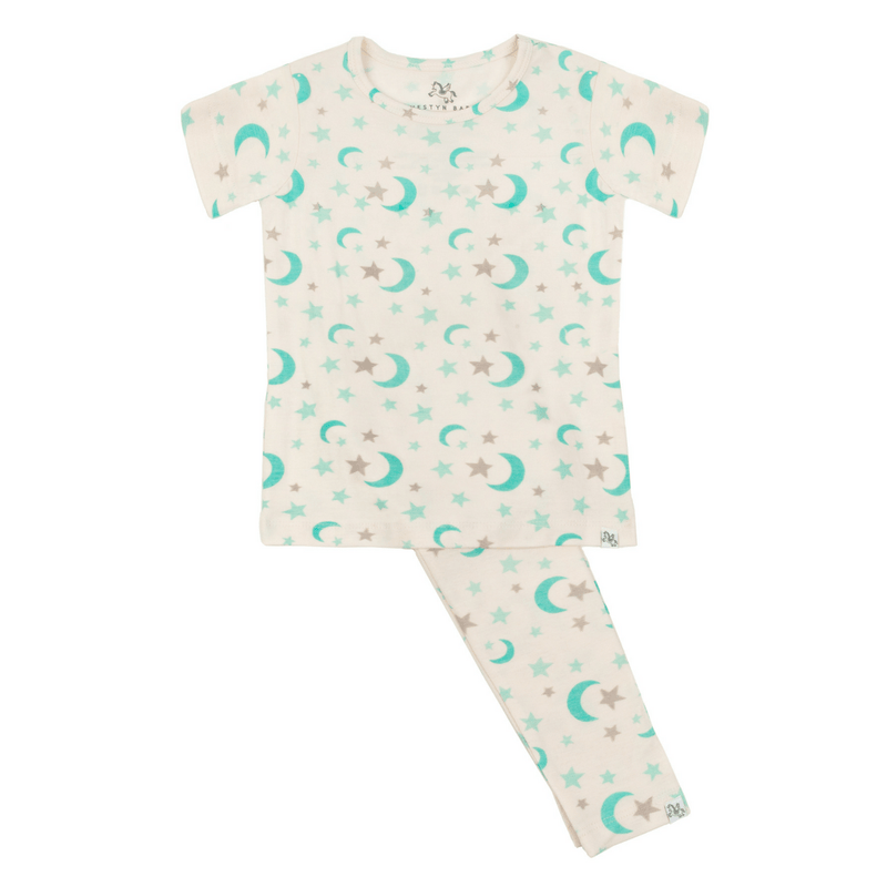 Short Sleeve Pajama Set - Shore to Shimmer - Project Nursery